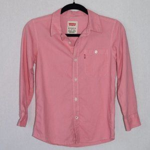 Levi's Pink Button Down Shirt Size Small
